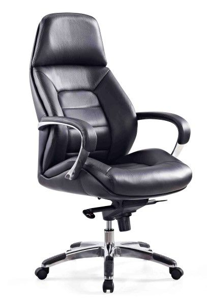 The Magnum Executive High Back Chair features a comfortably contoured backrest offering great lumbar and kidney lateral support and is upholstered in Italian A Grade Leather #seated #magnum #executive #leather seated.com.au