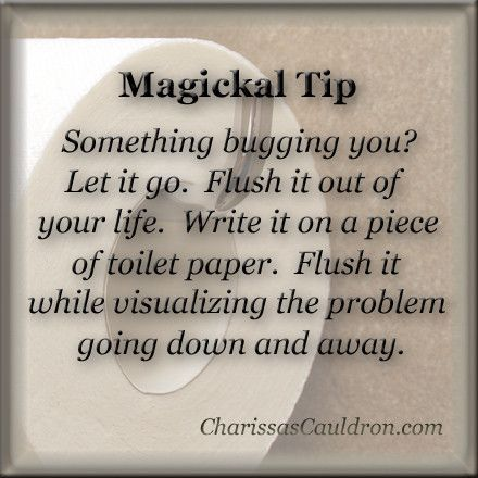 Magickal Tip - Flush Your Problems Away – Charissa's Cauldron