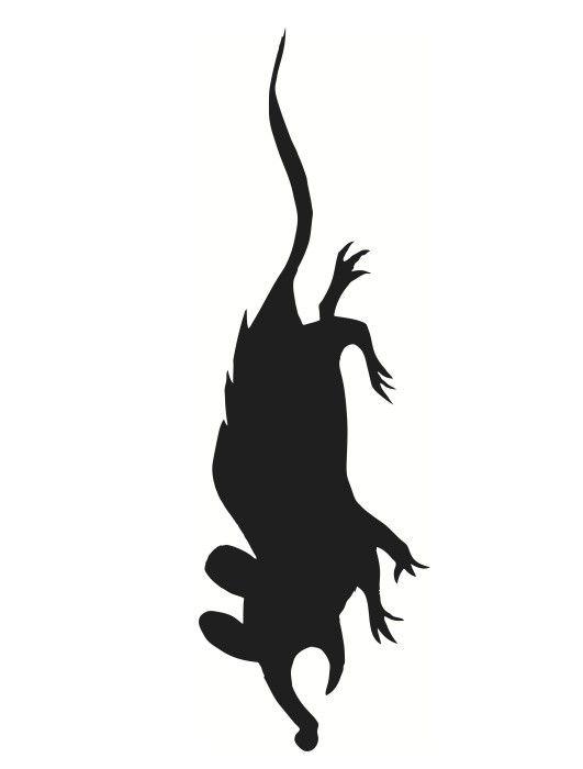 Wild image with printable halloween window silhouettes