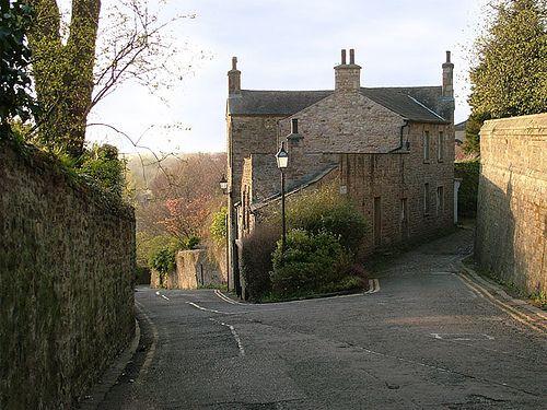 Top of Long Marsh Lane, Castle Hill, Lancaster, UK