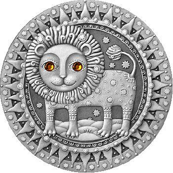 Belarus 2009 20 rubles Leo UNC Silver Coin