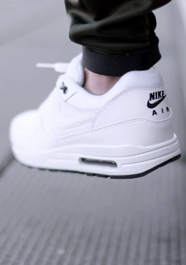 NIKE Air Max 1 Essential in White #sneakers #fashion ...