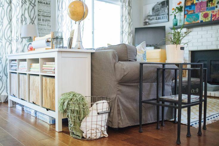 littlenestdesign.com | Ikea Bookcases for the win!