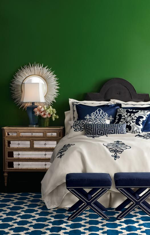 Emerald Green + Navy in Colors We Love: Emerald Green from HGTV