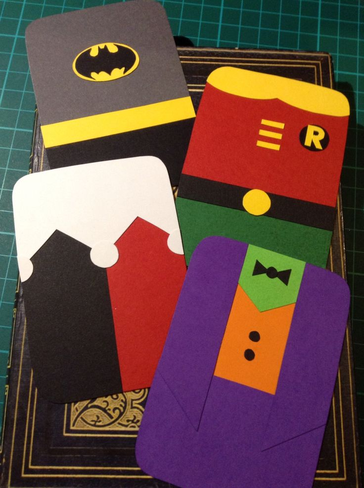 Batman, Robin, Harley Quinn, and the Joker.