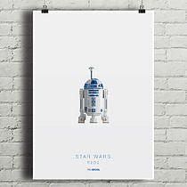 Star Wars - R2D2 - plakat A2, minimalmill