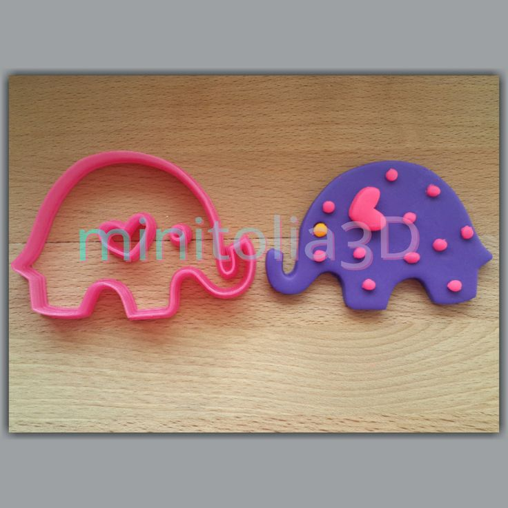Elephant Cookie Cutter by minitolia3D on Etsy