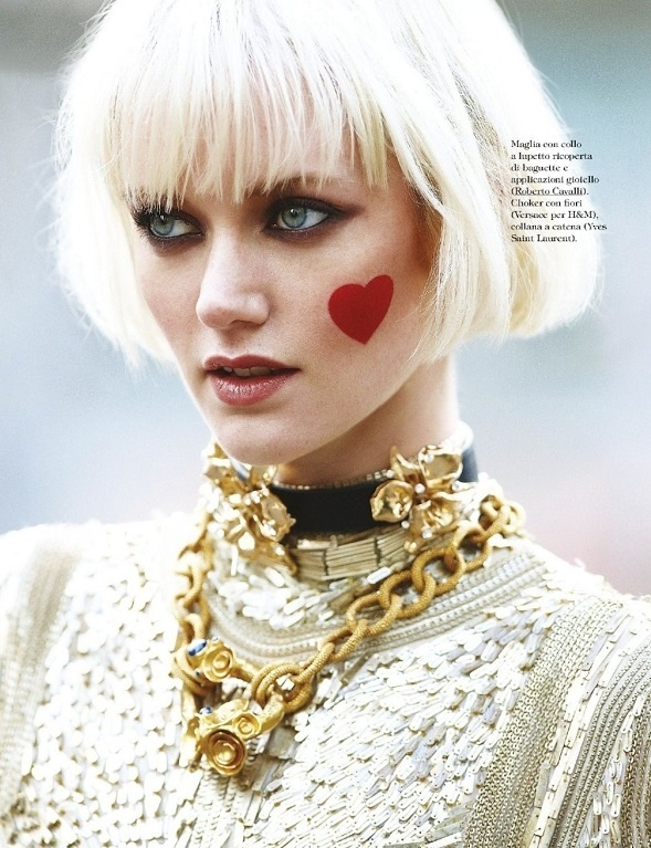 Heart Cheek - Alessia Aghemo for Grazia + my hair's almost at that length. can't wait to be blonde again.