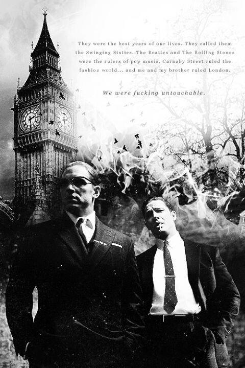 Legend - Tom Hardy as both Ronnie and Reggie Kray #GangsterMovie #GangsterFlick
