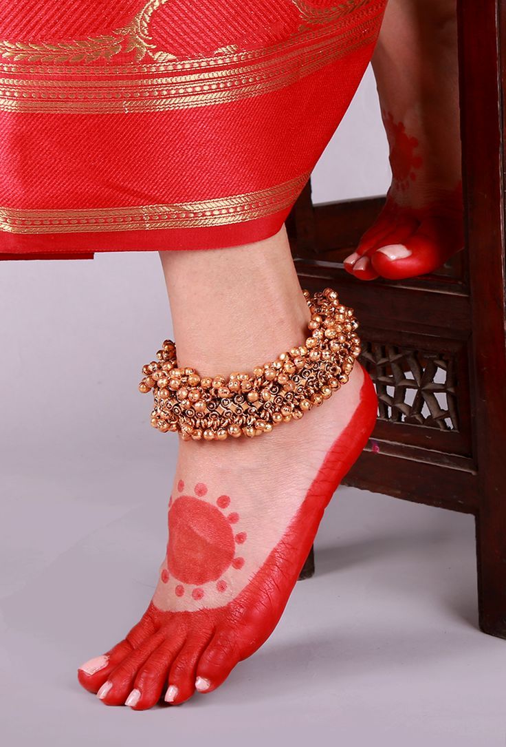 Gold Plated Ghungroo Lambani Anklet Traditionally, the Lambani women folk wear jewelry made out of copper, white metal and silver. Trying to revive the traditional lambani jewelry we have curated a collection of 22 carat gold and silver plated anklets.