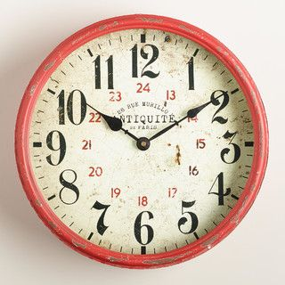 Daphne Kitchen Clock - eclectic - clocks - by Cost Plus World Market
