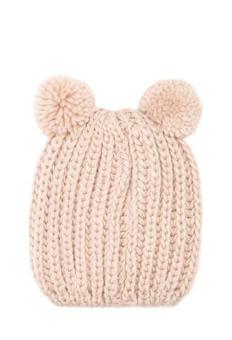 Pom Pom Ears Knit Beanie | FOREVER21 - 2000100446 #Forever Holiday