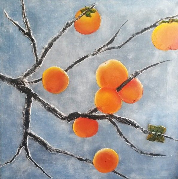 Persimmons. Oil on canvas, Olga Tretyak http://x-doux-x.livejournal.com/36683.html?mode=reply#add_comment