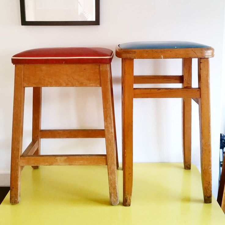 We've been having a bit of a sort out and tidy up today and as much as we love these vintage stools we just don't seem to have the space for them. So we're offering then up to you guys before we pop them on Ebay the blue one is 8.00 (it's a little rickety but could perhaps be made sturdy again). The red stool is 15.00 (it has a lift up seat with storage under). Can be sent via courier or local collection see stories for details!