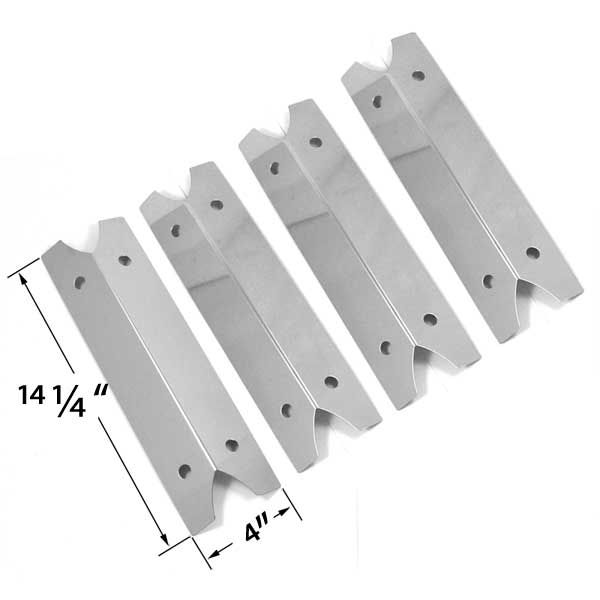 4 PACK STAINLESS STEEL HEAT SHIELD FOR OUTDOOR GOURMET DLX2012, SMOKE CANYON, SMOKE HOLLOW 7000CGS, CHARMGLOW 810-9210F GAS GRILL MODELS Fits Compatible Outdoor Gourmet Models : GR2002401-SC-00, DLX2012, DLX2013, SRGG21101 Read More @http://www.grillpartszone.com/shopexd.asp?id=33628&sid=37463