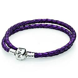 Cute Purple Pandora bracelet - maybe for my daughter's 13th birthday.