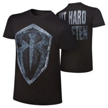 "Roman Reigns ""Hit Hard, Hit Often"" Metallic Logo T-Shirt"