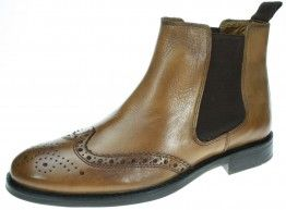 Red Tape Boyne Brown Slip On  Chelsea, Ankle Boots Brogue Mens Pull On Leather - £29.99