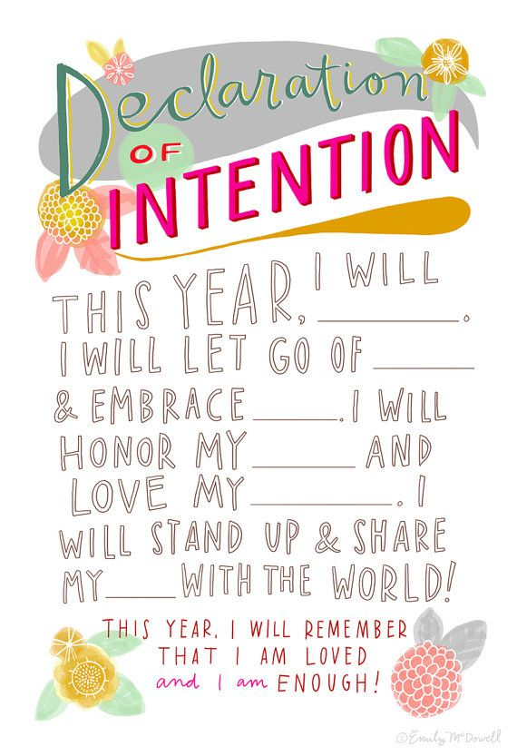Make a declaration of intention. | 25 Things To Do When You're Feeling Down: