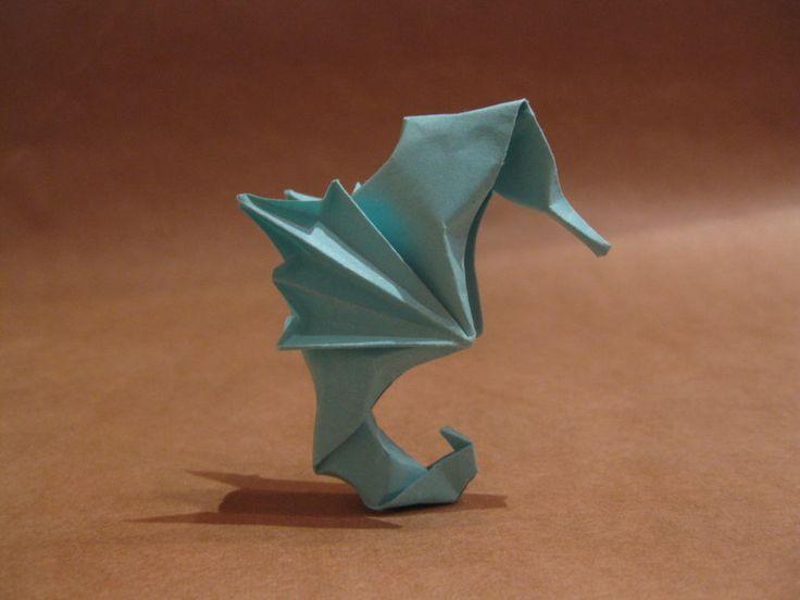 Origami seahorse by orimin.deviantart.com on @deviantART