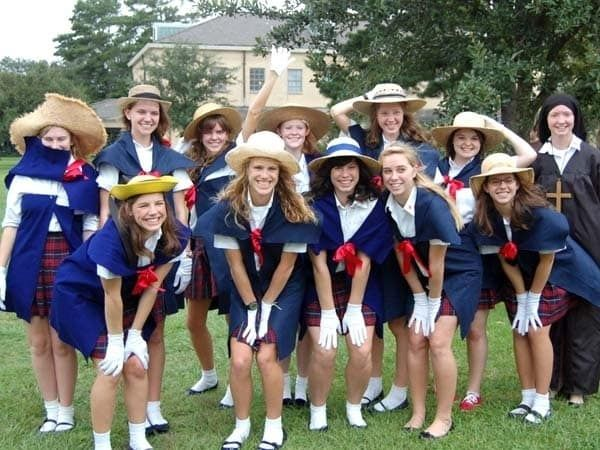 If you've already got a private-school uniform, the rest is just hats and silly fake French accents.