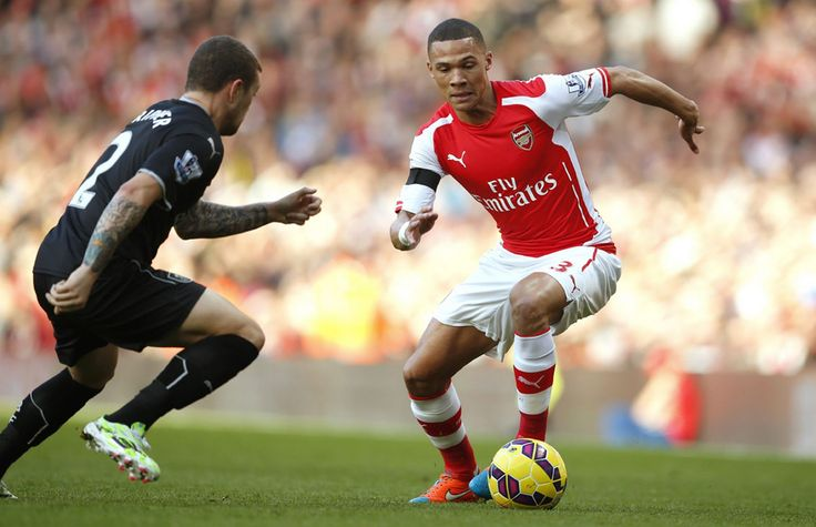 Burnley's Kieran Trippier and Arsenal's Kieran Gibbs