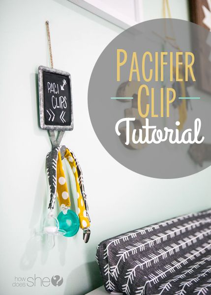 Pacifier Clip Tutorial - Can't believe how easy these are to make!