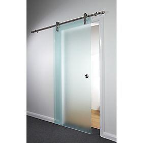Spacepro Sliding Door Kit Opaque Glass 840 x 2080mm
