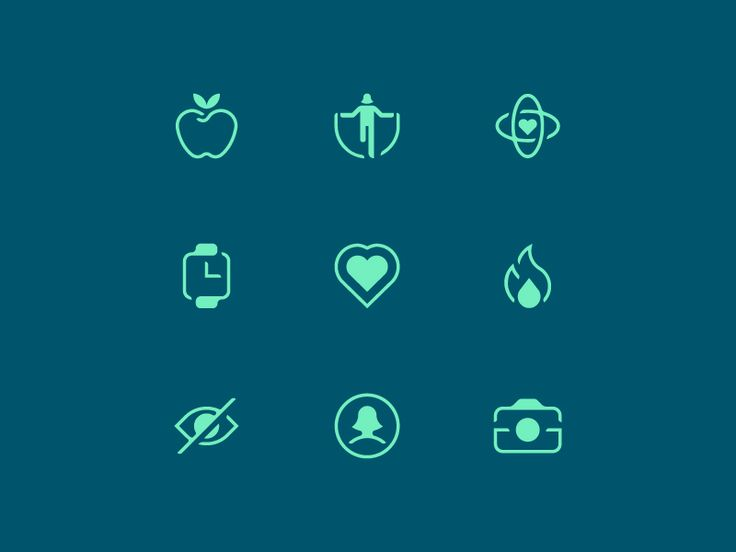 Health App Icons by Makers Company #icon #icons #icondesign #sports #health #picto #pictogram #beauty