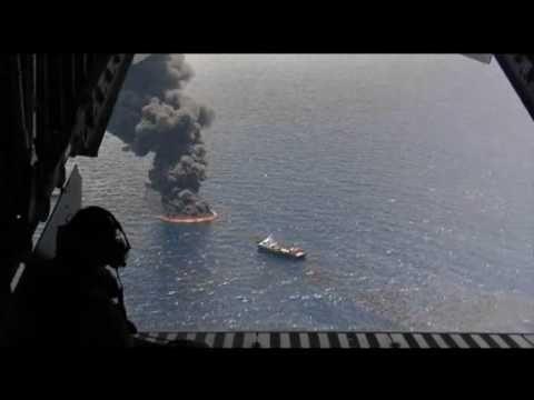 BP Olielek Video. Bekijk de olieramp eens vanuit de hoogte in plaats vanuit de diepte