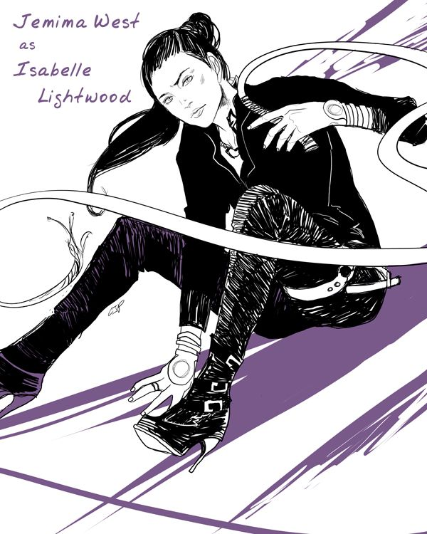 Jemima West as Isabelle Lightwood (done by Cassandra Jean)