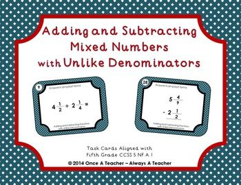 Add and subtract mixed numbers worksheet tes