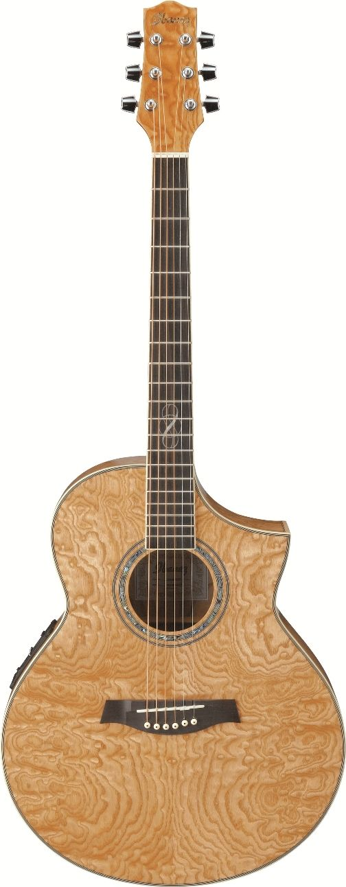 """Ibanez EW20ASENT Acoustic Guitar: SERIES BASICS•EW Body with Cutaway  •Mahogany Neck  •B-Band® UST™ Pickup  •Ibanez SRTc Preamp with Chorus, Onboard Tuner  •Balanced 1/4"""" and XLR Outputs  •Ibanez Ivorex II™ Nut and Saddle  •Ibanez Advantage™ Bridge Pins  •D'Addario® EXP™ Strings//// Love  This!"""