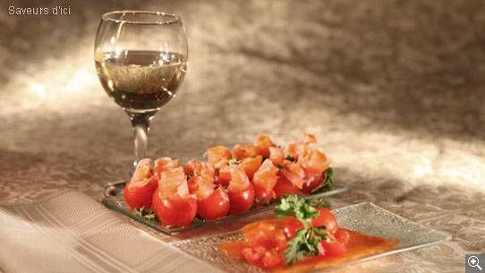 Tomates cerises farcies au saumon fumé: ingrédients, préparation, trucs, information nutritionnelle