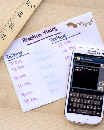 Science Fair: Texting Versus Talking: The Effects of Cell Phones on Reaction Time