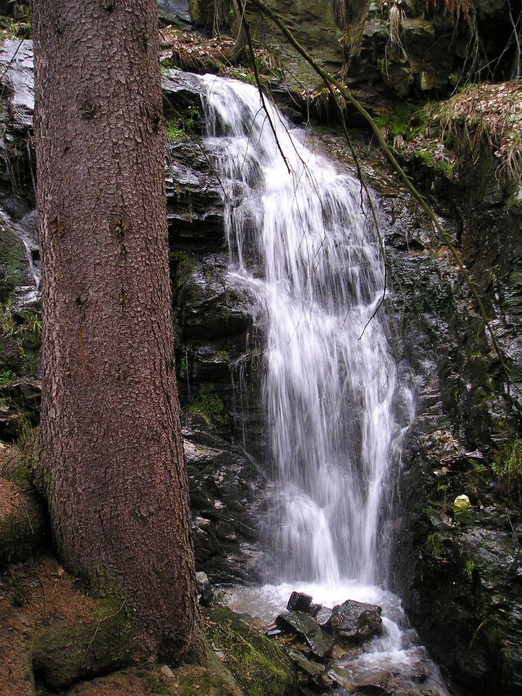 Krušné hory, Kýšovický vodopád