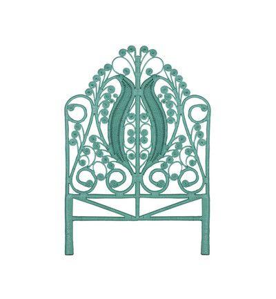 WILLIAMS ROAD | Peacock Bedhead - Mint, Furniture