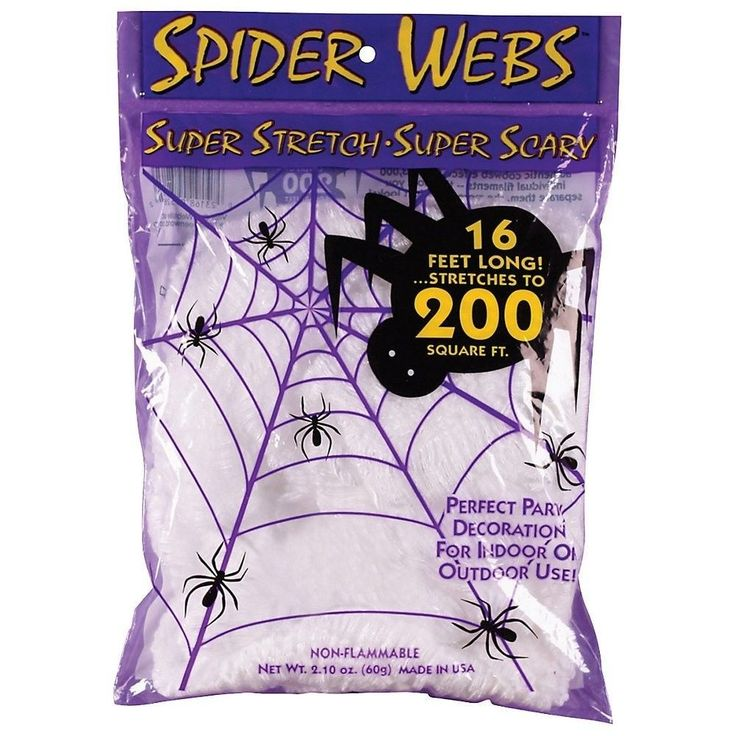 Halloween Spooky Decor Super Stretch Spider Web 16 Foot #FunWorldCostumes
