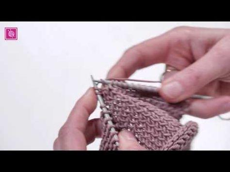 Verdraaide rechte steek breien - YouTube