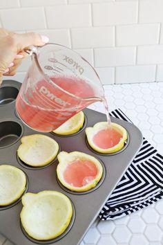 Pink Lemonade Jello Shots! (click through for recipe!)