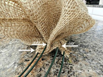 Great website for how to make a burlap wreath... Shows step-by-step