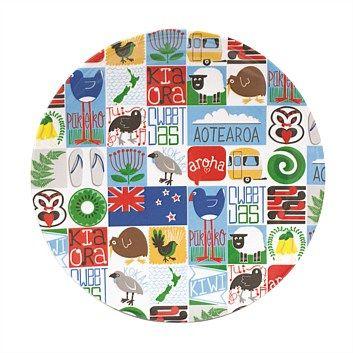 Kiwiana & NZ Gifts - Living & Giving - Kiwiana Tiles Melamine Plate Multi 23cm