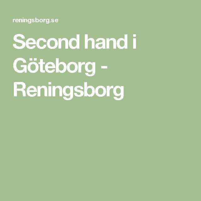 Second hand i Göteborg - Reningsborg