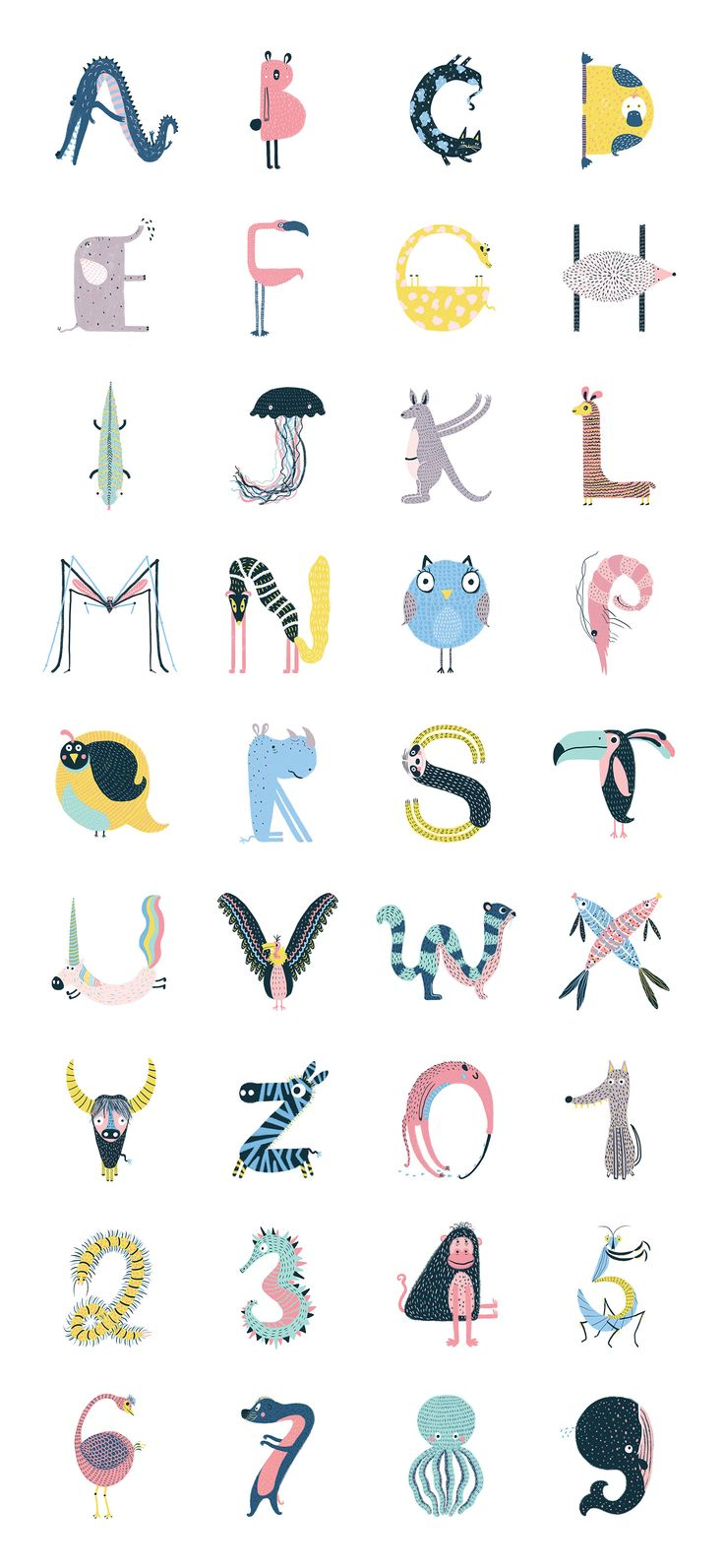typography | Animal Type - 36Days on @Behance by Ana Melo