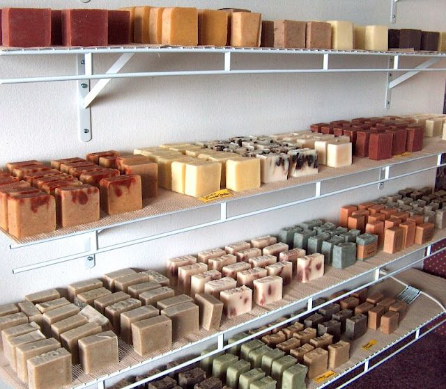 curing racks...great for a closet at home.....CAN YOU IMAGINE HOW WONDERFUL THIS SMELLS? <3 GREAT SMELLING HANDMADE SOAP!!!