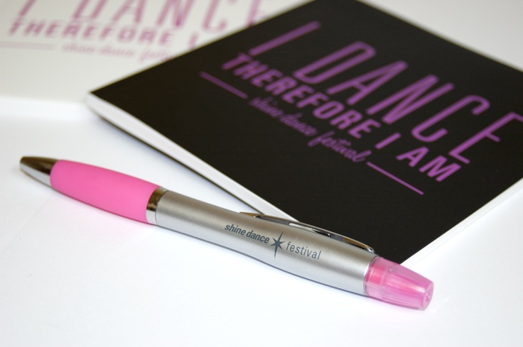 Shine Dance Festival Highlighter Pen & Notebooks made from STONE!