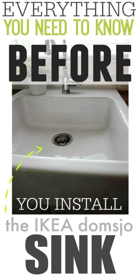 Everything you need to know before you install the IKEA domsjo sink! So many helpful tips here!