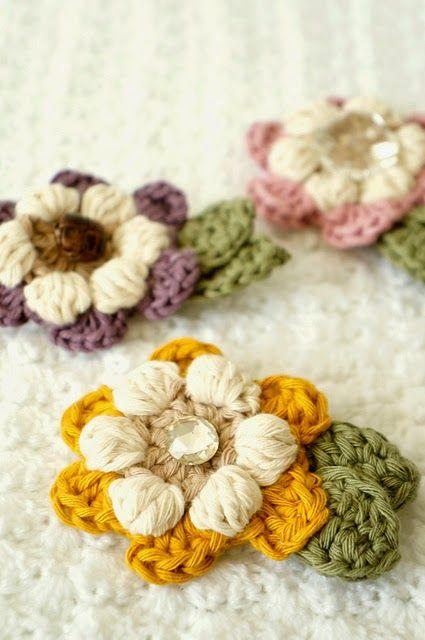 269 best crochet flowers. images on Pinterest | Crocheted flowers ...