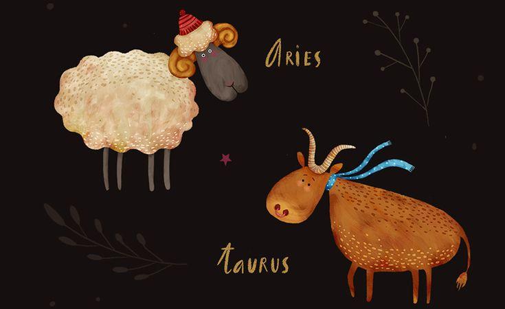 Zodiac signs on Behance