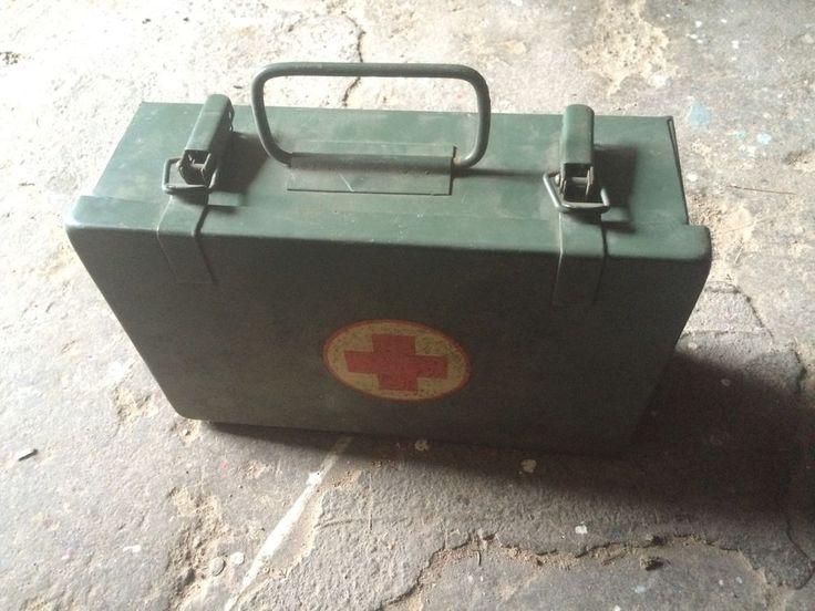 Verbandskasten DDR Erstehilfekoffer Nostalgie Metallkoffer